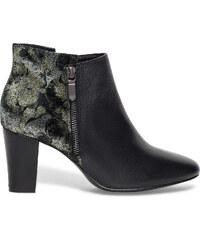 Eram Boots cuir imprimé floral noir