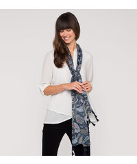 C&A Bluse mit Schal in Weiss