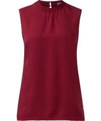 Street One Shirttop mit Rüsche Fylla - vintage red, Damen