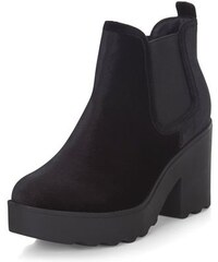 New Look Schwarze, klobige Chelsea-Stiefel aus Wildleder