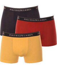 3PACK Pánské Boxerky Polo Ralph Lauren Navy / Yellow / Red