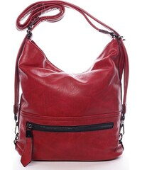 Dámská trendová kabelka přes rameno Estefani, červená
