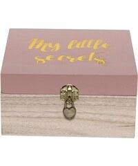 Bloomingville Dřevěná krabička se zámkem Secrets