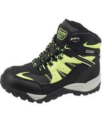 ALPINE PRO Dětské trakkingové boty BOROTO - černo-žluté