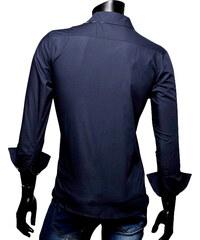 Re-Verse Business-Hemd mit karierten Details - Navy - S