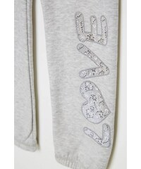 Terranova kalhoty s potiskem a krajkou
