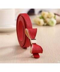 Lifestyle Dámský pásek s mašlí červený