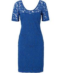 BODYFLIRT Spitzenshirtkleid/Sommerkleid kurzer Arm in blau von bonprix