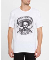 THE KOOPLES Weißes T-Shirt mit Rundhalsausschnitt und mexikanischem Print T