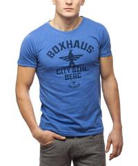 BOXHAUS Brand SOAR T-Shirt blue htr
