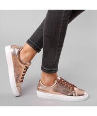 Lesara Metallic-Sneaker Pastellfarben - 35