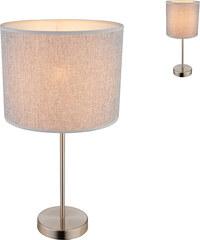 Lesara Lampe de table avec abat-jour en textile Paco