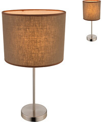 Lesara Lampe de table avec abat-jour en textile Betty