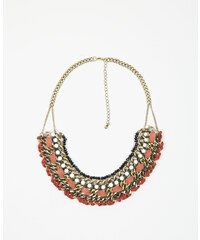 Pimkie Plastron-Halskette aus Schnur und Perlen