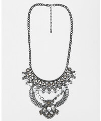 Pimkie Plastron-Halskette mit Strass und Perlen