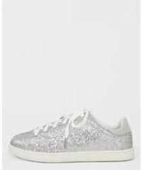 Baskets glitters gris argenté, Femme, Taille 36 -PIMKIE- MODE FEMME