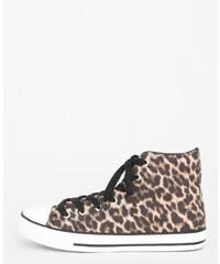 Pimkie Tennisschuhe aus Stoff mit Leoparden-Print