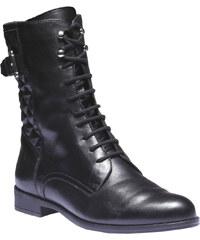 Baťa Kožená kotníčková obuv s prošitím