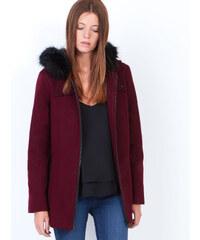 Manteau à capuche avec bordure en fausse fourrure Etam