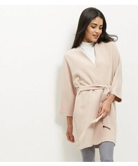 New Look Rosa Kimono-Jacke mit Gürtel