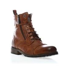 Pepe Jeans Footwear MELTING ZIPPER - Boots - aus braunem Leder