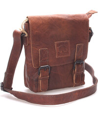 Pánská kožená taška přes rameno hnědá - Dargelis Collection Antonio hnědá