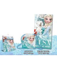 Euroswan Sada osuška a taška Ledové království Elsa 100% bavlna froté 60/120 cm