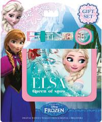 Euroswan Dárková sada peněženka a hodinky Ledové království Elsa 12x7 cm