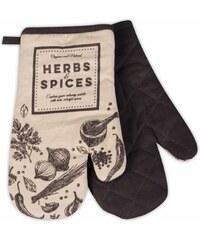 Kuchyňské bavlněné rukavice chňapky SPICES, béžová, 100% bavlna 18x30 cm Essex