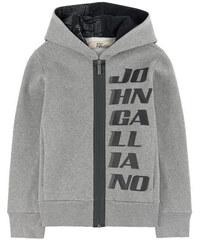 John Galliano Kids Sweatshirt mit melierter Kapuze