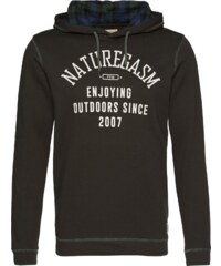 TOM TAILOR DENIM Sweatshirt hoody w.checked hoodlining