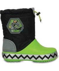 Crocs Boot Boys Black/Volt Green CrocsLights LodgePoint RoboSaur