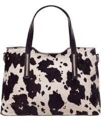 Glamorous by Glam Dámská pevná kabelka do ruky se srstí černo-bílá