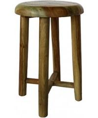 Industrial style, Dřevěná stolička s dokonalým opracováním 46x30cm (1234)