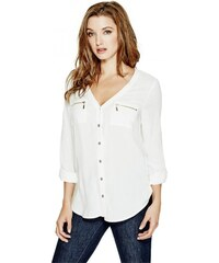 GUESS GUESS Eliyana Long-Sleeve Top - macadamia
