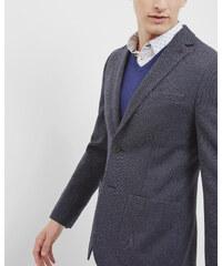 Ted Baker Jersey-Blazer mit Mini-Design Marineblau
