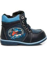 SPORT Pohodlné modré boty s kožíškem