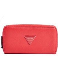 GUESS peněženka Abree Zip-Around červená