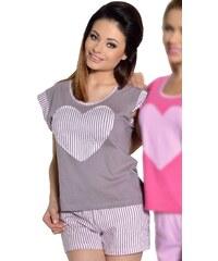 Taro Dámské krátké pyžamo Roksana mocca