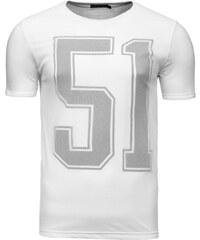 Tričko s krátkým rukávem s číslem 51 bílé 7642