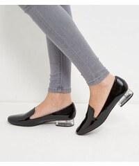 New Look Slipper mit Absatz aus Acryl in Schwarz