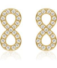 Unique Jewelry Vergoldete Infinity Ohrstecker Zirkonia SE0794-G