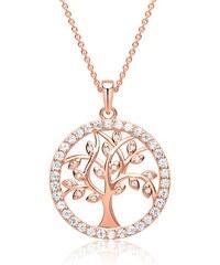 Unique Jewelry Kette mit rosévergoldeter Baum-Anhänger SP0793-R