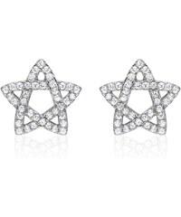 Unique Jewelry Ohrstecker 925er silber Stern mit Zirkonia SE0799