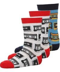 Ewers 3 PACK Socken grau/rot/navy/gelb