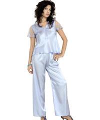 DKaren Saténové pyžamo Ewa modré