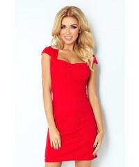 09087b1bf23c Červené šaty s velkým výstřihem