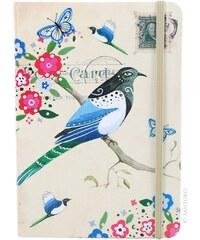 Santoro béžový zápisník Watercolour Bird