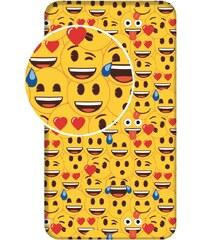 Jerry Fabrics Prostěradlo Emoji 90x200x25 cm