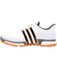 adidas Golf TOUR360 BOOST WD Chaussures de golf white/dark silver metallic/unity orange